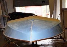 Rebuild of Norfolk punt shoveller by Chris Tuckett at SlipperyBottoms boatbuilding, Acle, Norfolk www.slipperybottoms.co.uk