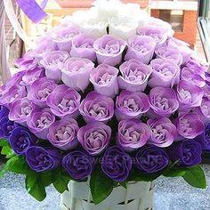 paper rose, white rose, shades of purple, weddings, purple flowers, bouquets, head tables, purple roses, color scheme