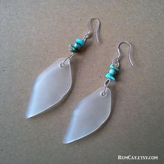 Glass and Turquoise Earrings   by Rum Cay