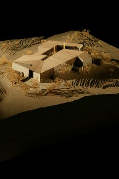 Architectural Model | Desert Courtyard House / Wendell Burnette Architects