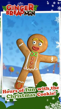 FREE Talking Gingerbread Man App. FUN FUN FUN! He repeats back everything you say and much more <3