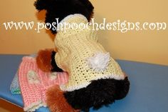 Bunny Dog Sweater - Cottontail Dog Sweater - Small Dogs 2-15 lbs   PoshPoochDesigns - Pets on ArtFire