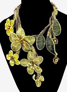 Ganutell, wire and bead jewelry by Marina Somova
