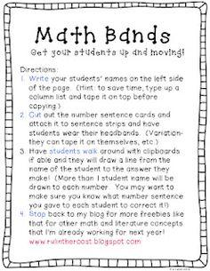 Classroom Freebies Too: Math (head)bands!