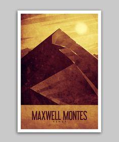 Travel Poster Venus - Maxwell Montes
