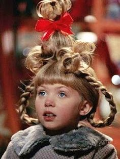 Cindy Lou Who hairdo tutorial...for Dr. Seuss Day at school