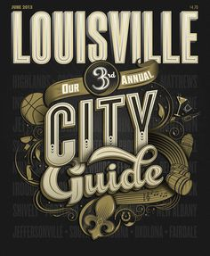 cover of Louisville Magazine's annual City Guide issue by Bryan Patrick Todd