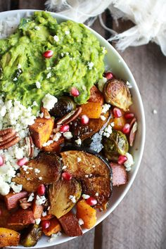 Roasted Harvest Veggie, Curried Avocado + Coconut Rice Bowls #Healthy