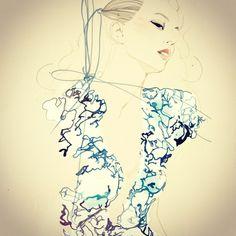 Illustration on Dripbook : : Lulu /Nadine Schemmann | Fashion Illustration | Berlin, Germany