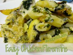 Homemade Chicken Florentine-  Homemade Chicken FlorentineChicken Florentine pasta bake is a new favorite in our household, among the adults that is. A pasta casserole that is rich in flavor, not creamed sauces. Who can resist a pasta dish that has artichoke hearts, spinach, chicken, and cheese in it