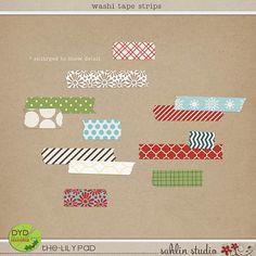 washi tape strips by sahlin studio