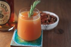 Rosemary apple cider cocktail