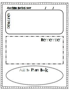 """Teacher Notebook"" printable forms."