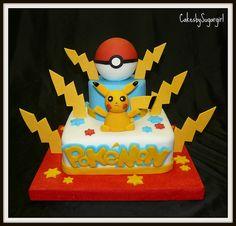 Pokemon cake, I like the lightning on this one!