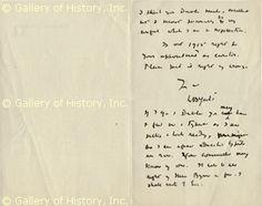 WB Yeats handwriting