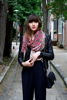 floral scarf Have Fun with Autumn Floral Prints