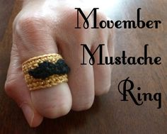 {FREE PATTERN} Movember Mustache Ring BY BOOK PEOPLE STUDIO.