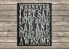 8 x 10 Start Being Awesome Chalk Word Art by PolkadotPrintCompany