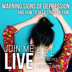 I'll be live this Thursday on @amnw Katu talking about #depression and how to help with the pain. Tune in if you're in #Portland  #madewithstudio