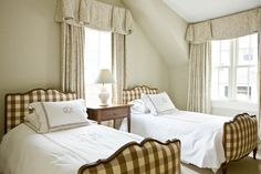 love the buffalo check twin beds . . .