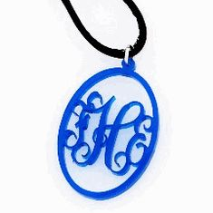 Monogram Flourish Radiant Necklace - $32.99! monogram flourish, radiant necklac, monogram jewelri