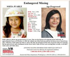 2/4/2013: It's been 10 years since 4-year-old Sofia Juarez disappeared from her Kennewick... pinned with Pinvolve