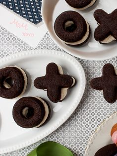 Give guests chocolate XO whoopie pies.