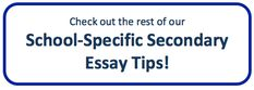 medical school secondary application essay tips