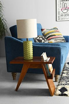 sofa & side table styling