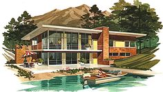 mid-century vacation home plans