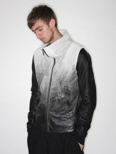 Rick Owens funnel leather, cloth, style, experiment fashion, owen men, collect men, ebay, leather jackets, rick owens