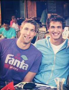Two of my favorites. Matt Grevers and Nathan Adrian.