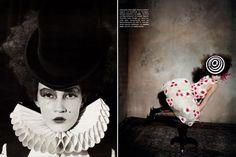 wonka circus shoot, circus fashion, clown, circus makeup, vogue circus, germany, fashion photography, imag, circusthem fashion