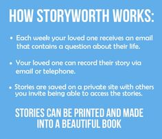 StoryWorth - How it