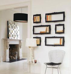 Frames become bookshelves.
