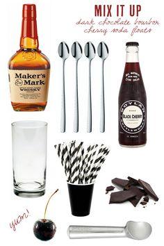 Dark chocolat bourbon cherry soda float. Except for the foam...
