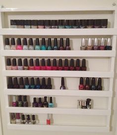 How to: Build Your Own Nail Polish Rack |  @Tessa McDaniel Dantzer after school project?