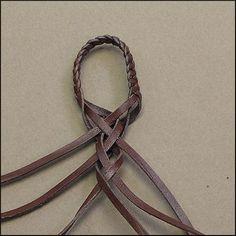6-strand half-round braid - Leather Braiding by John   . . . .   ღTrish W ~ http://www.pinterest.com/trishw/  . . . .   #handmade #jewelry