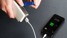 An emergency hand-crank smartphone charger. Be prepared, you never know what might happen.