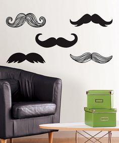 Mustache Wall Art Set