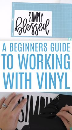 If you're intimidated by Cricut vinyl, have no fear. This tutorial is all about A Beginners Guide To Working With Cricut Vinyl, and it will help any beginner master their Cricut machine. #cricut #diecutting #diecuttingmachine #cricutmachine #cricutmaker #diycricut #cricutideas #diycricutprojects #cricutprojects #cricutcraftideas #diycricutideas