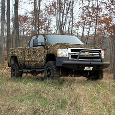 Camo Chevy, like a hunting blind on wheels;) lol