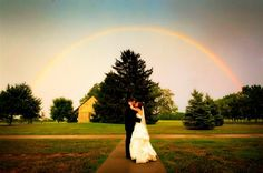 There were storm clouds in the distance, but it didn't dampen Matt and Sara Emry's wedding day at Keeneland.