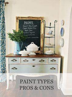 Paint Types (pros & cons)   www.missmustardseed.com