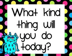 """This kindness unit will help your class become a bully-free zone! Featuring """"The Kindness Creatures"""", this unit is packed with resources and ideas for lessons on kindness!  * Kindness lesson ideas and charts to use with the class * Kindness Journal with 3 cover options and journal page options * Kindness Creature coloring page * Kindness Bulletin Board with colorful letters and kindness statements"""