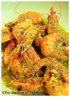 Shrimps in Mustard-Lemon Sauce