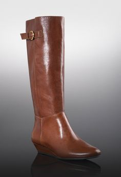 Demi-wedge boot crafted from rich leather Bradbury - JustFab