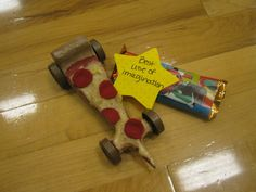 Pizza Pinewood Derby Car