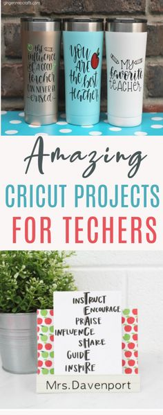 Whether you're a  hardworking teacher yourself, or simply want to honor all the hard work your  kids' teachers do for them, these Amazing Cricut Projects for Teachers are  going to be perfect. There's sure to be something here for everyone. #cricut  #diy #crafts #projects #diycrafts #diyprojects  #diyideas #diecutting #diecuttingmachine #cutfiles #svgfiles #diecutfiles  #diycricutprojects #cricutprojects #cricutideas #vinylprojects #vinyl