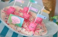 Octopus Marshmallow pops!  Ariel party